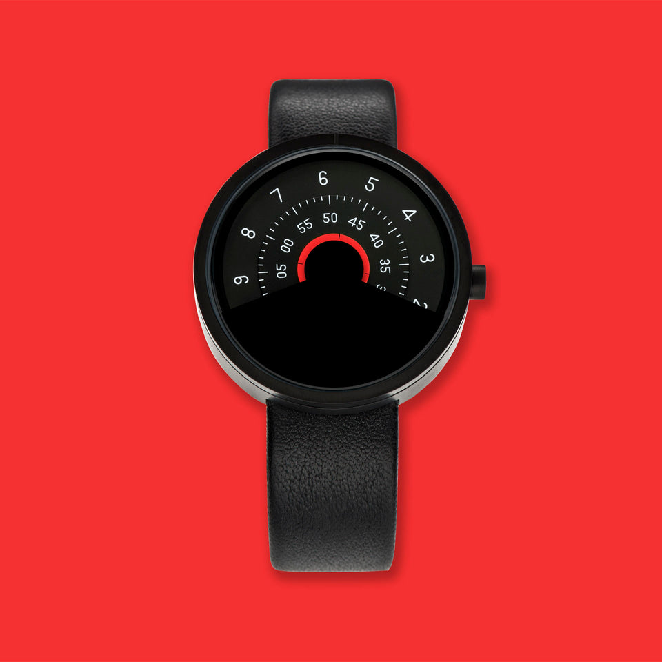 ANICORN Series 000 - Black & Red Automatic Watch