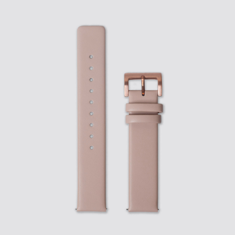 TTT - Straps - Beige Leather/Rosegold buckle