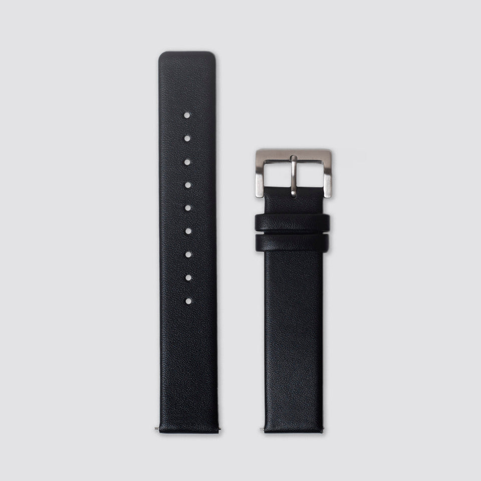 TTT - Straps - Black Leather/Silver buckle