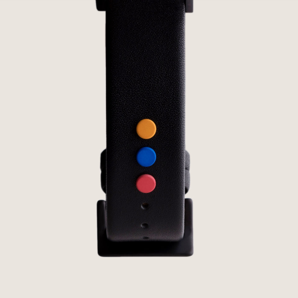 Anicorn - Leather strap with planet buttons