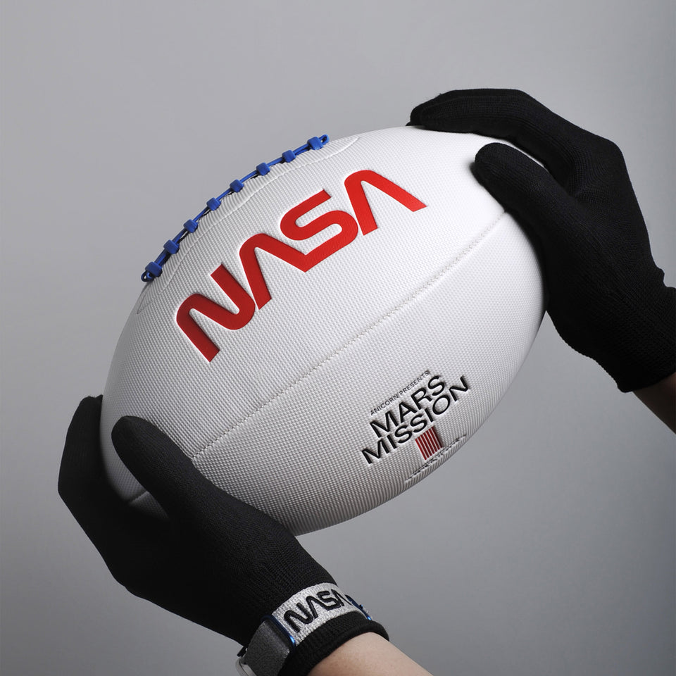 Stamped with NASA worm logo, Jezero Crater coordinates and made with exclusive microfiber composite leather, The Mars Field football is the one and only NASA edition of its kind.