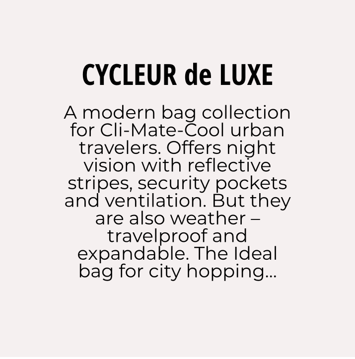 Cycleur de Luxe bag