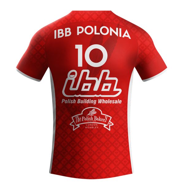RED - IBB Polonia Volleyball Club shirt with YOUR name