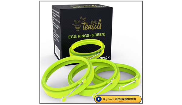 Silicone Egg Ring Set of 3 Green