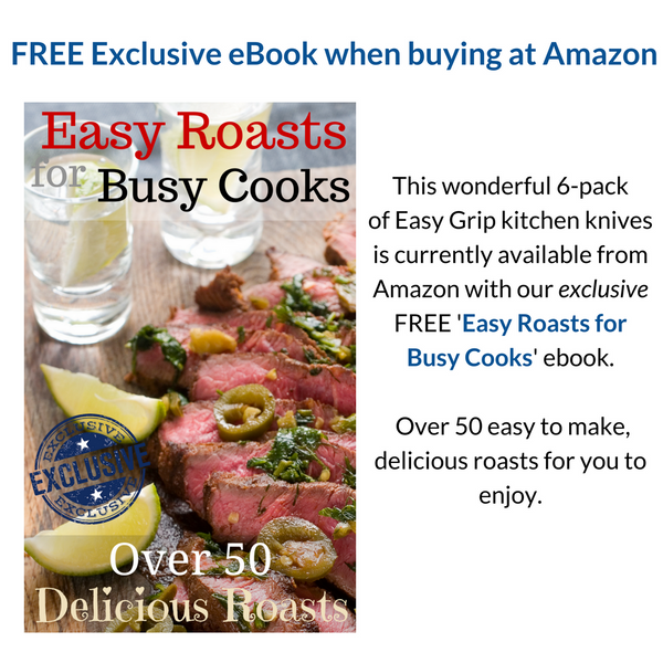 BONUS eBOOK Easy Roasts for Busy Cooks, over 50 Delicious Roasts. Emailed to you shortly after purchase