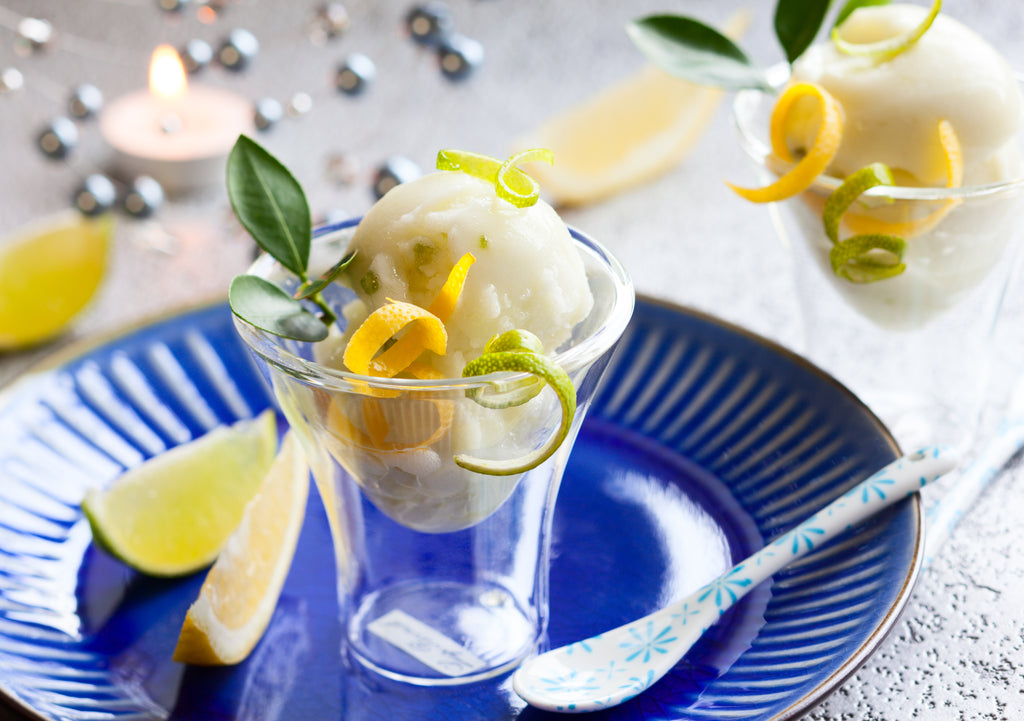 Speedy and simple lemon sorbet