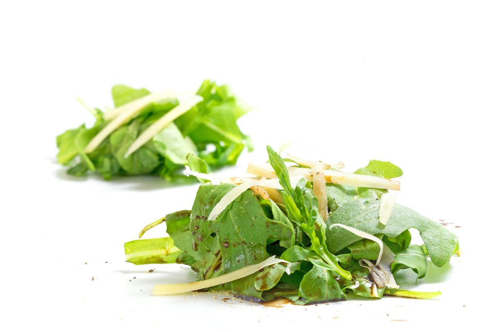 Quick and Easy Arugula Salad with Olive Oil, Lemon, and Parmesan Cheese