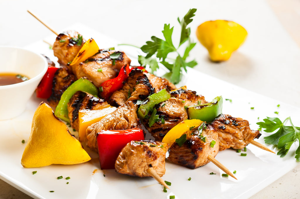 Easy lemon pepper chicken skewers