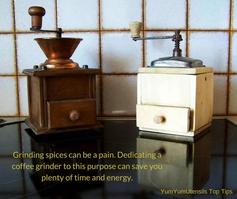 Cooking Tip from Alton Brown: Grinding spices can be a pain...