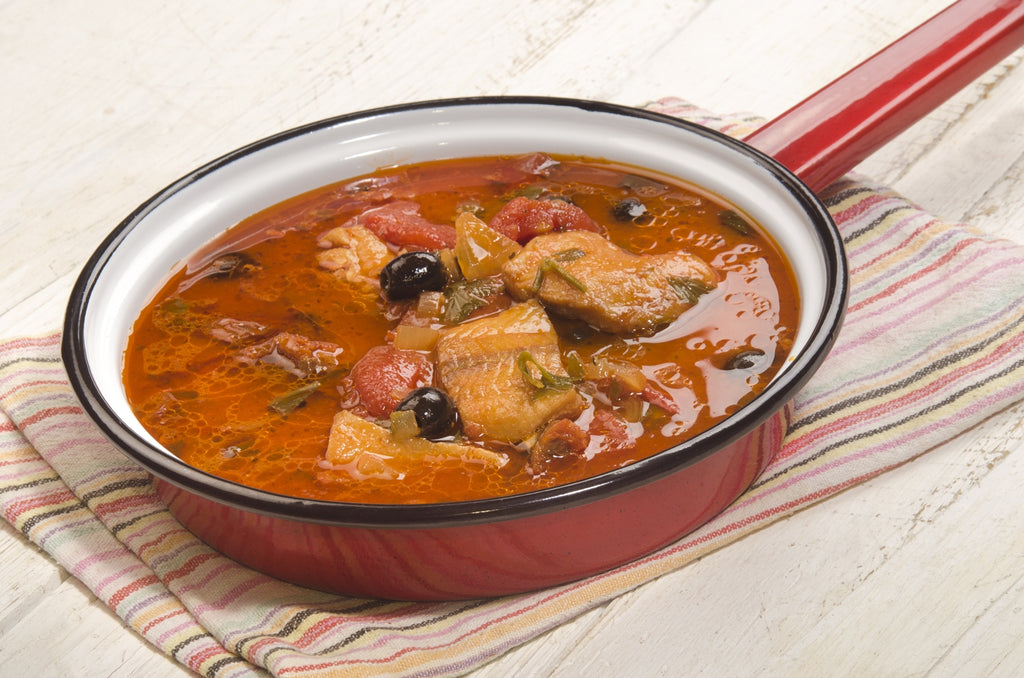 One-Pot Fish With Black Olives and Tomatoes