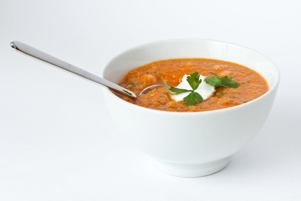 red lentil, bean and chili soup
