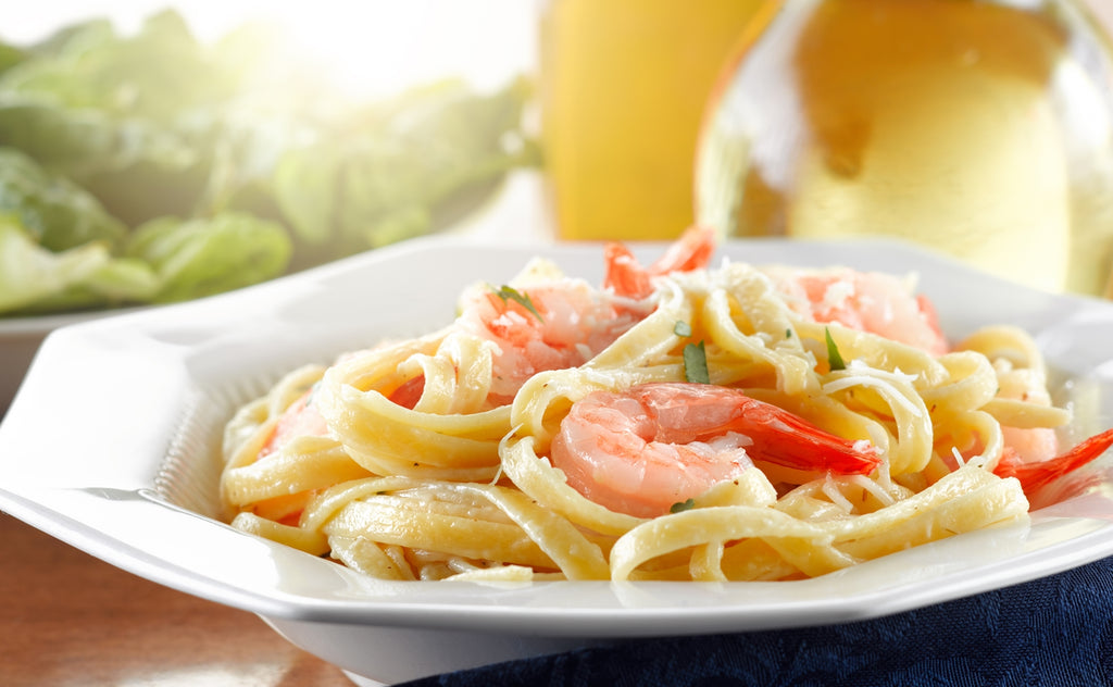 quick and easy Seafood Fettuccine Alfredo Recipe