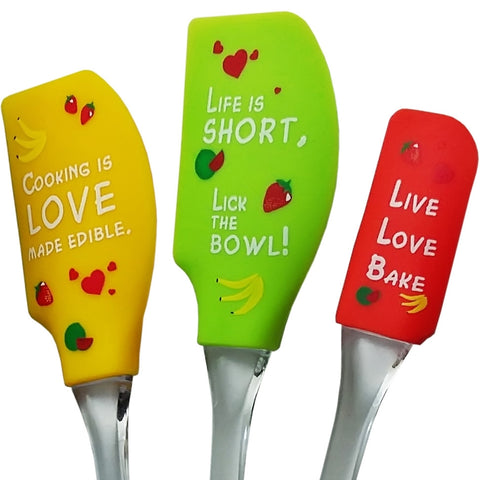 Set of 3 Silicone Spatulas
