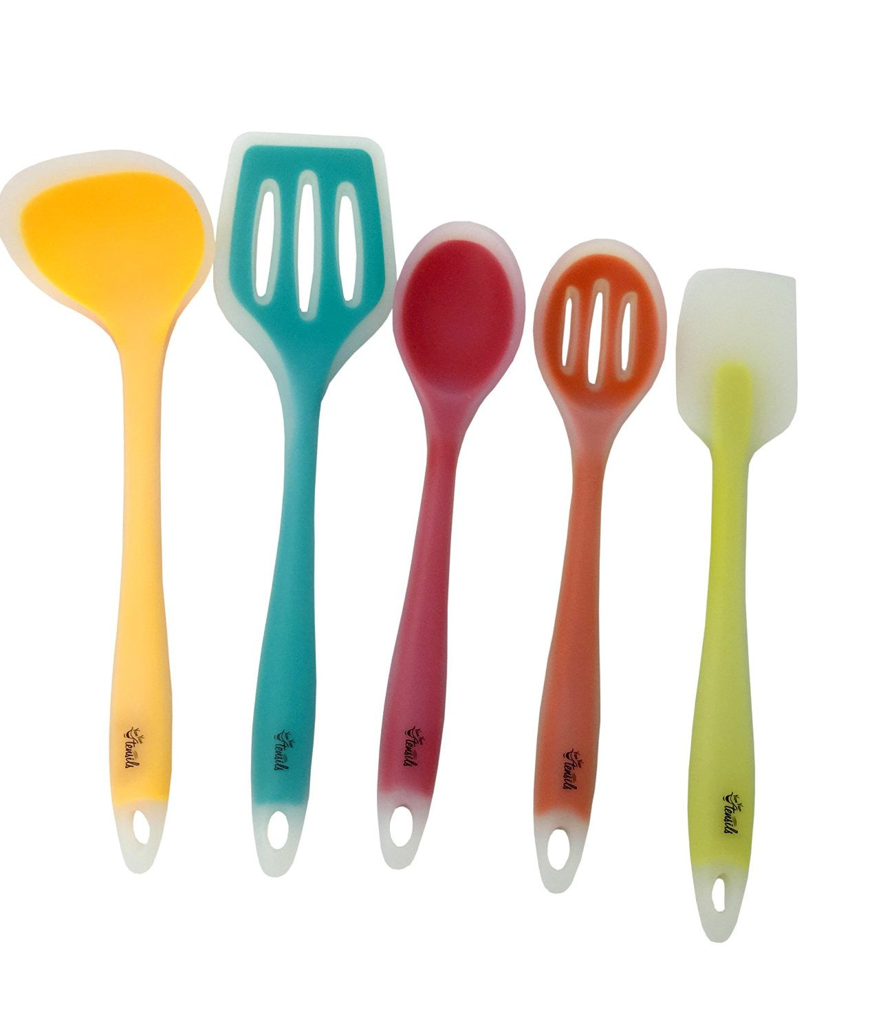 Silicone cooking utensils set of 5 for the kitchen one for Kitchen set utensils