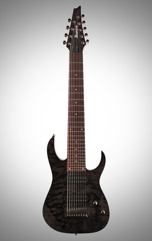 Ibanez RG9QM Electric Guitar, 9-String, Black Ice