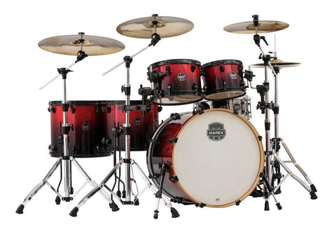 Mapex AR628SFB Armory Studioease Fast Drum Shell Kit, 6-Piece, Magna Red