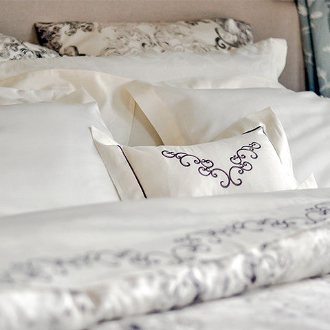 Egyptian Cotton Embroidered Belgravia Pillow Covers