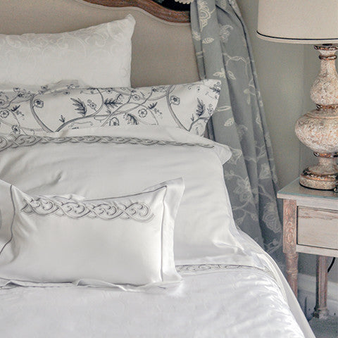 Egyptian Cotton Kensington Gray Jacquard Duvet Covers