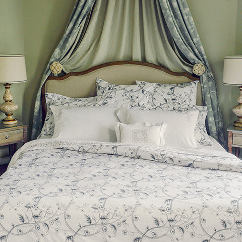 Egyptian Cotton Kensington Printed Grey Duvet Covers