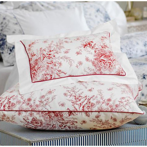 Egyptian Sateen Cotton Cottage Garden Crimson Duvet Cover