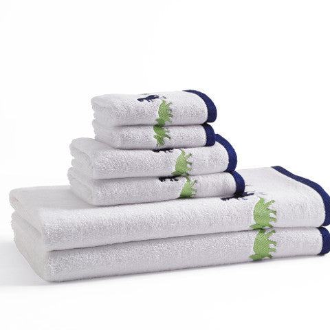 Egyptian Cotton Dino Embroidered Towel Set For Kids