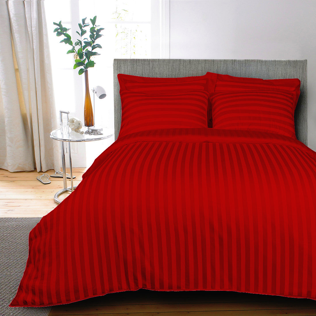 cover with through red covers duvet vanity decorate your how bedroom to