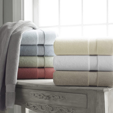 Long Staple Turkish Cotton Plush Single Colored Towel Set, 800 GSM