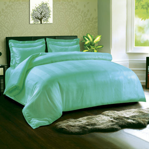 Hypoallergenic, 400 TC Duvet Cover, Made of Eucalyptus, Turquoise