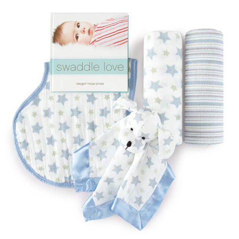 Aden & Anais - Prince Charming 4 Piece Gift Set for Baby