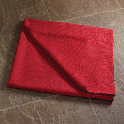 100% Lambswool Throw Red