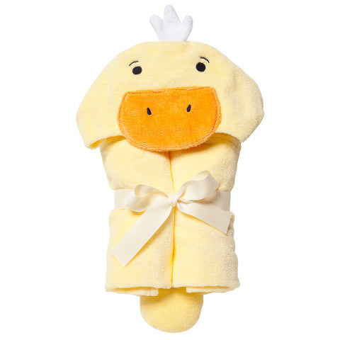 Yellow Baby Towel with Ducky Hood