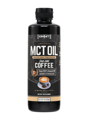 Onnit Emulsfied MCT Oil in Almond Milk Latte flavour.