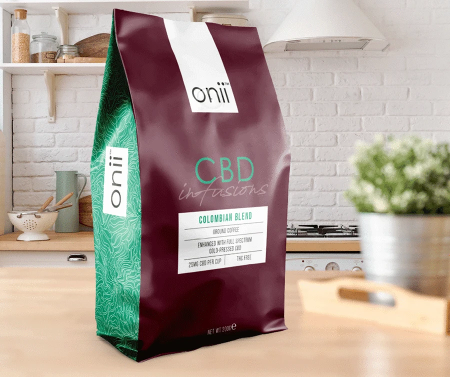 Onii CBD infused Colombian blend coffee, from Powerful.ie