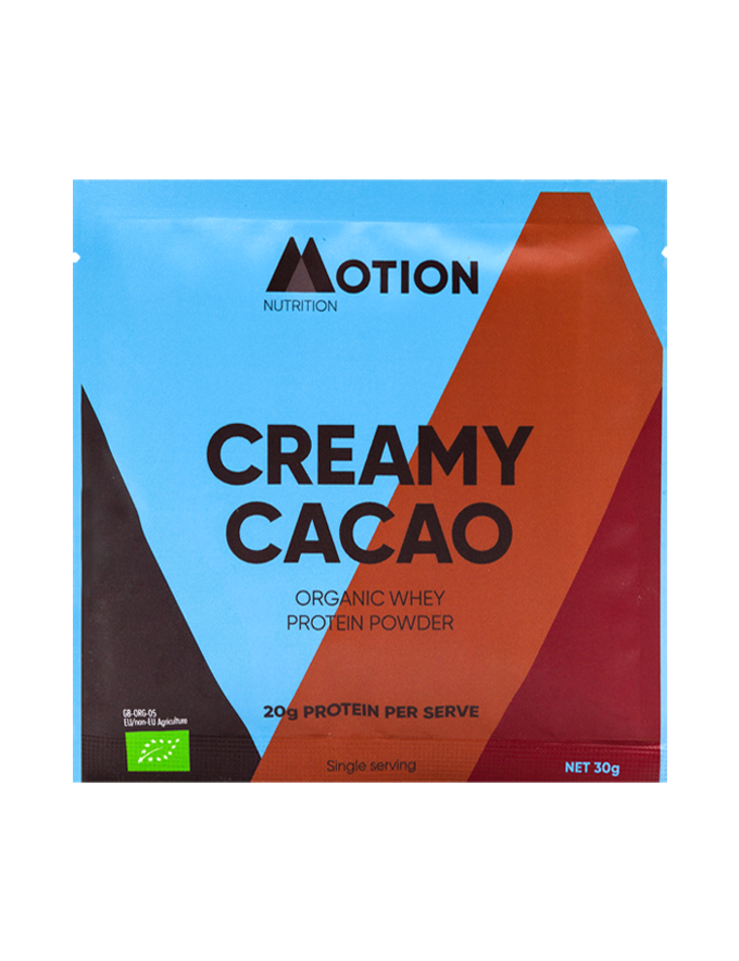 Creamy Cacao Whey protein powder single serving