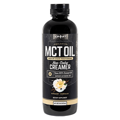 Onnit Emulsfied MCT Oil in Vanilla Creamer flavour.