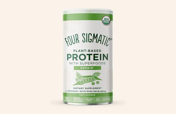 Four Sigmatic Plant Based Protein Powder Can