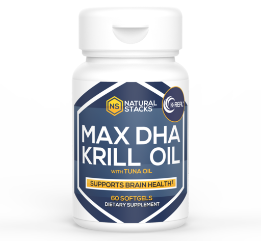 Natural Stacks Max DHA Antarctic Krill Oil with 1.5 mg of Astaxanthin