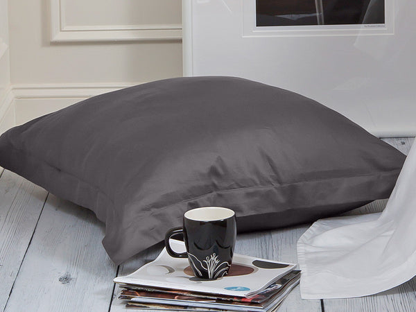 Sachi Home - Gray Sateen Bedding - 1 Euro Sham