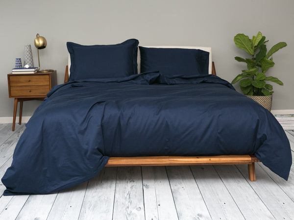 Sachi Home - Navy Sateen Bedding - 1 Duvet Cover