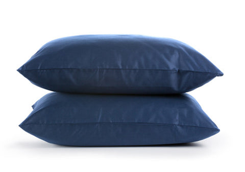 Sachi Home - Navy Sateen Bedding - Set of 2 Pillowcases