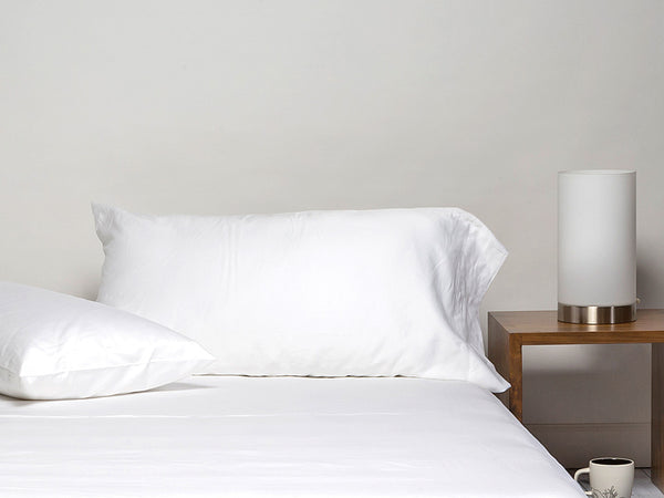 Sachi Home - White Sateen Bedding - Set of 2 Pillowcases