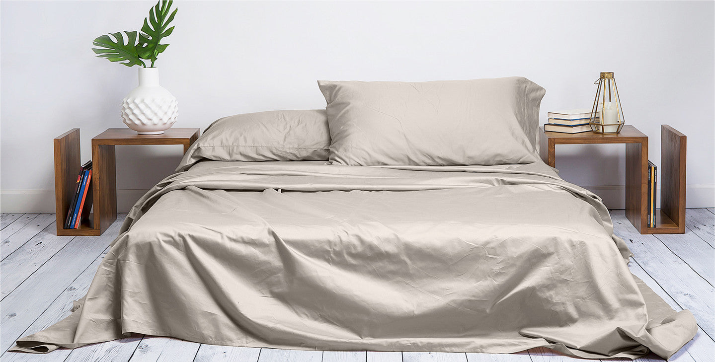 GREAT SLEEP STARTS WITH GREAT SHEETS