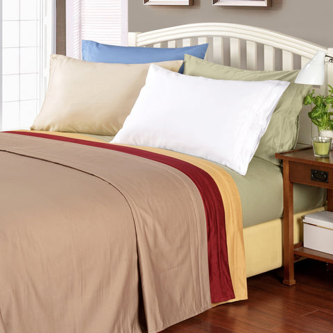 1000tc 100% Premium Long Staple Combed Cotton Solid Sheet Set