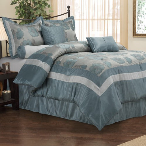 Luxury Aloha 7Pc Bedding Set - King- Multi-Colored