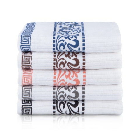 Luxury 550 GSM LARISSA COLLECTION COTTON 6 PC TOWEL SET (2 face+2 hand+2 bath)