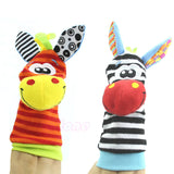 1Pairs Animal Baby Infant Kids Foot Sock Rattles Toys Developmental Soft - Anippe