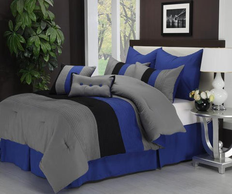 FLORENCE 8-PIECE COMFORTER SET WITH SHAMS, BED SKIRT AND PILLOW
