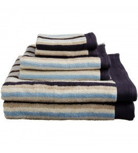 Luxury Egyptian Cotton Stripe 6PC Towel Set