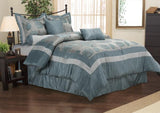 7-PIECE BEDDING SET, COMFORTER, SHAMS AND DECORATIVE PILLOWS - Anippe