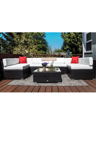 7PC Sofa Set Sectional Couch Cushioned Furniture Patio Outdoor